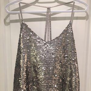 Medium glitter open back hollister shirt